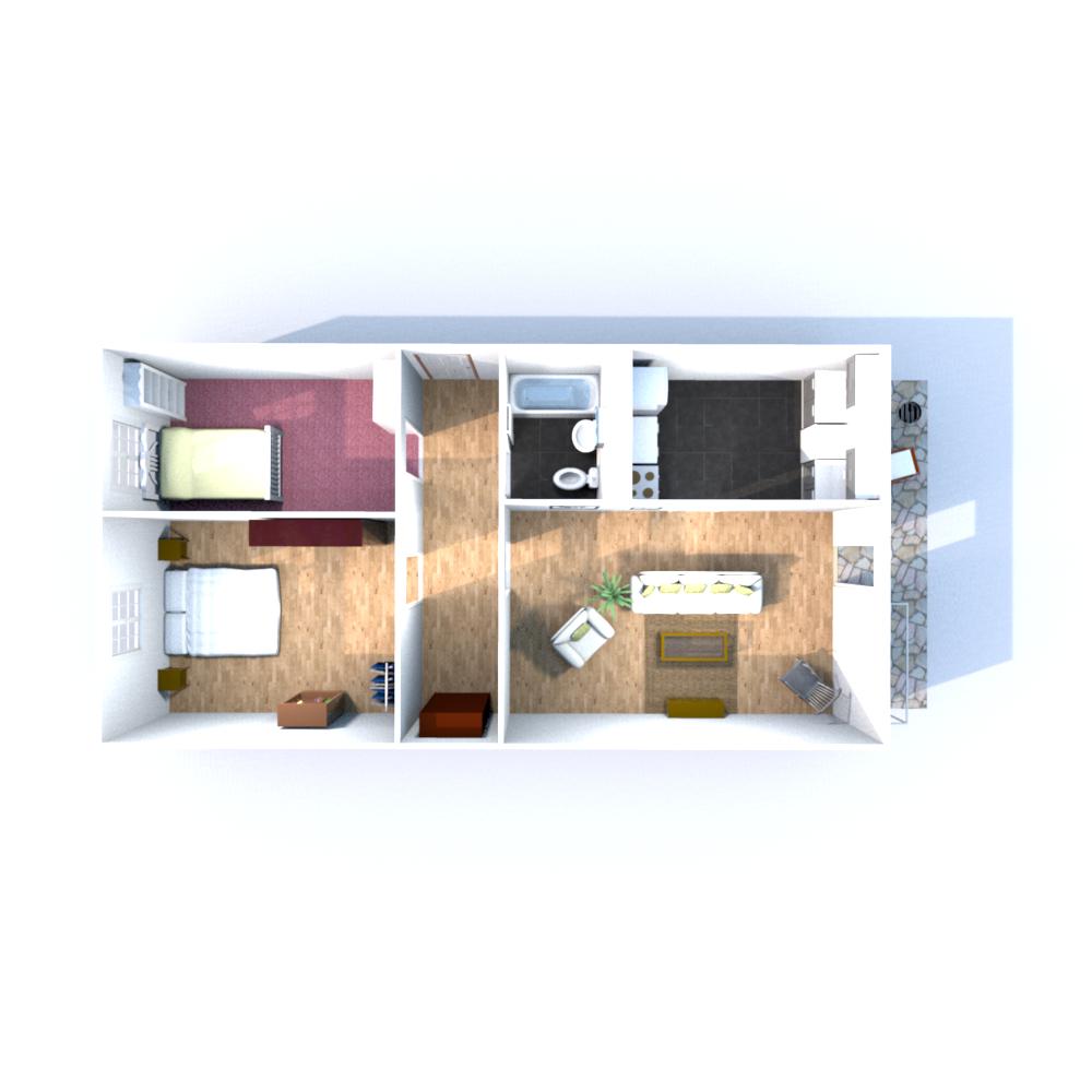 Wohnfläche 69,77 qm