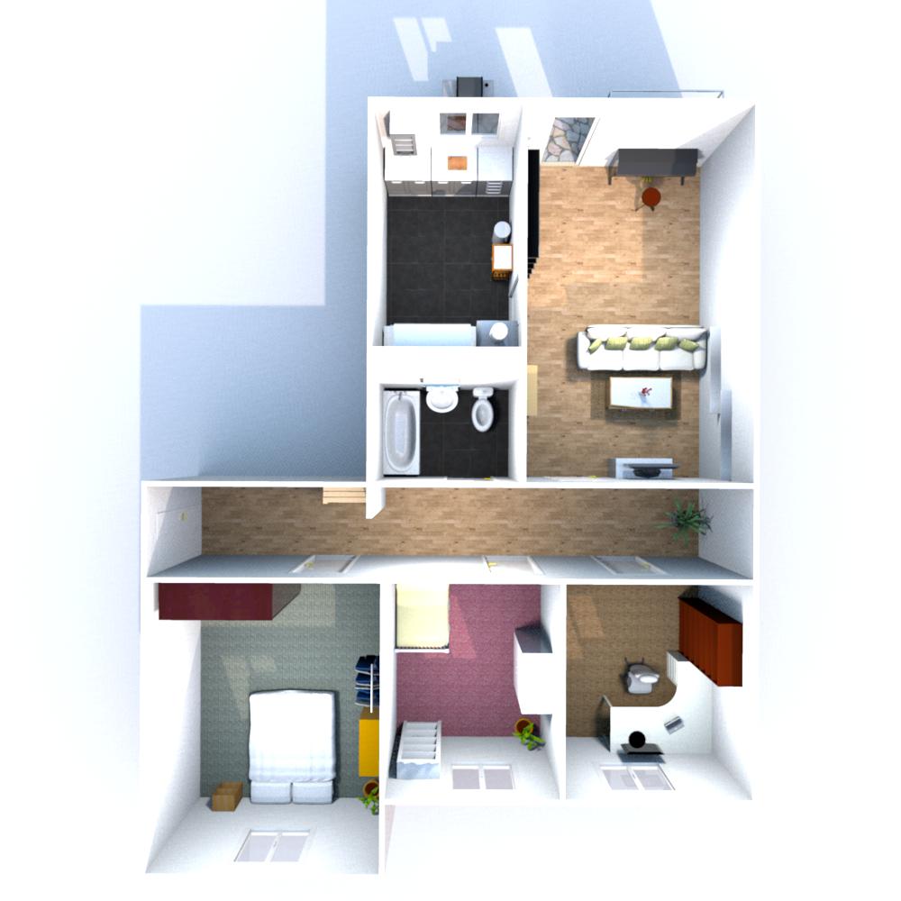 Wohnfläche 81,80 qm