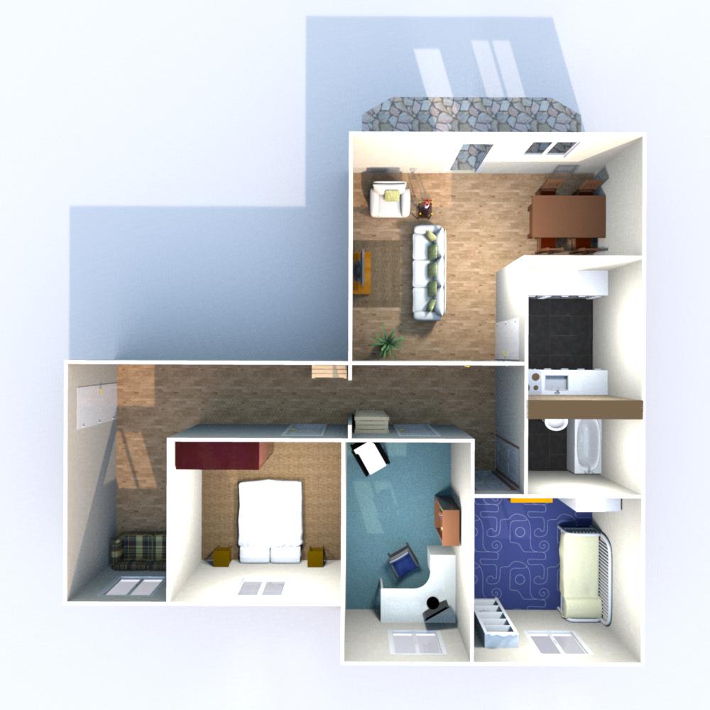 Wohnfläche 89,10 qm