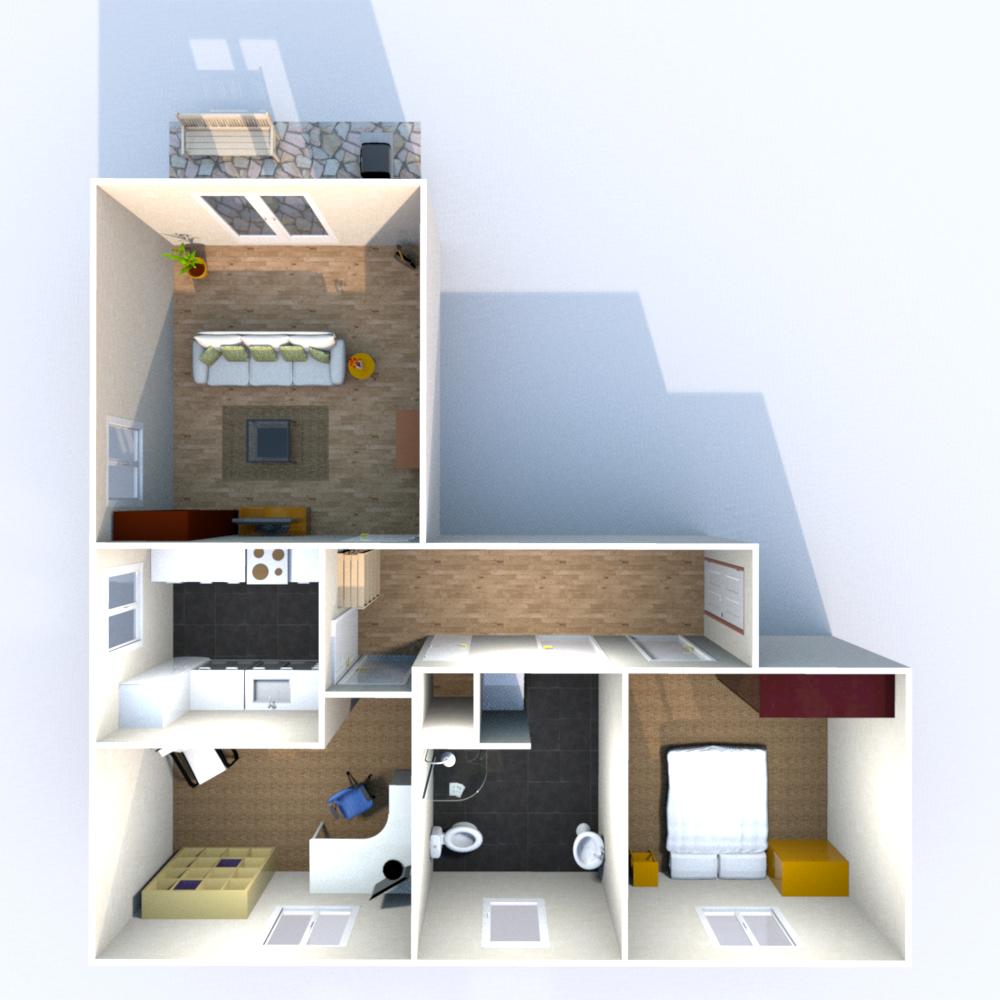 Wohnfläche (ohne Balkon) 72,74 qm