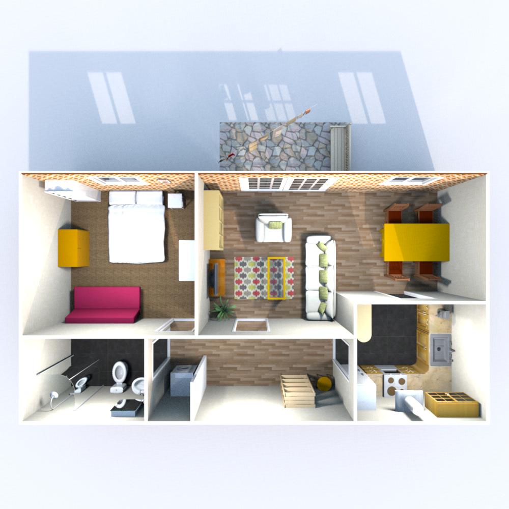 Wohnfläche (ohne Balkon) 58,71 qm