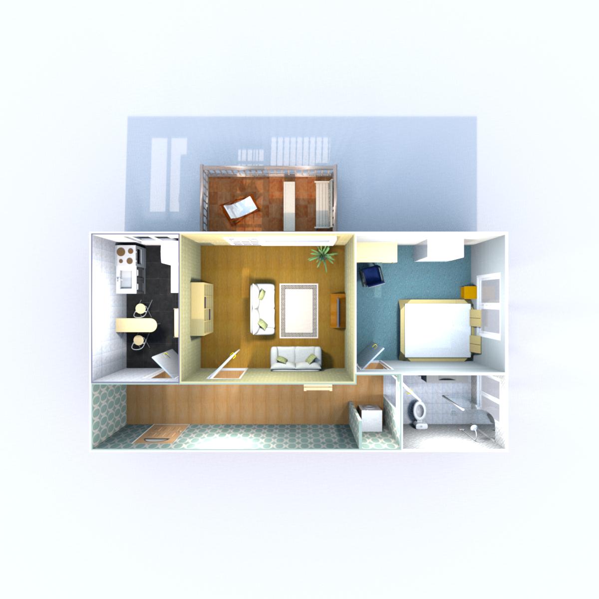 Wohnfläche 58,65 qm